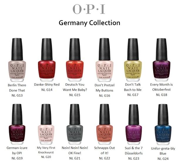 OPI Germany Fall 2012 Nail Polish Collection